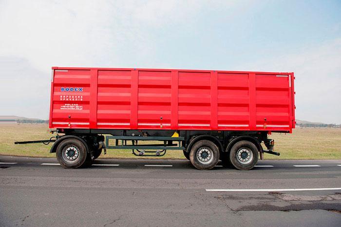 Причіп-зерновоз з тристороннім розвантаженням BODEX PC3 W 30-40 м³